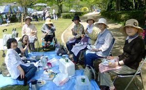 21世紀の森でピクニック